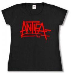 """Zum tailliertes T-Shirt """"Antifa 161"""" für 14,00 € gehen."""
