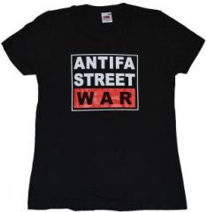 """Zum tailliertes T-Shirt """"Antifa Street War"""" für 14,00 € gehen."""
