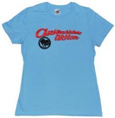 """Zum tailliertes T-Shirt """"Antifaschistische Aktion (1932)"""" für 13,65 € gehen."""