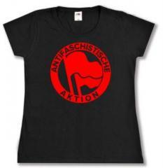 """Zum tailliertes T-Shirt """"Antifaschistische Aktion (rot/rot, 1932)"""" für 13,65 € gehen."""