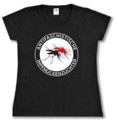 """Zum tailliertes T-Shirt """"Antifaschistische Impfmückenzüchter"""" für 14,00 € gehen."""