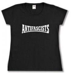 """Zum tailliertes T-Shirt """"Antifascists"""" für 14,00 € gehen."""
