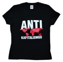 """Zum tailliertes T-Shirt """"Antikapitalismus"""" für 13,65 € gehen."""