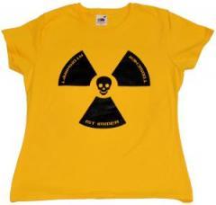 """Zum tailliertes T-Shirt """"Atomkraft ist immer todsicher"""" für 13,65 € gehen."""