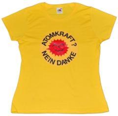 """Zum tailliertes T-Shirt """"Atomkraft? Nein Danke"""" für 13,65 € gehen."""