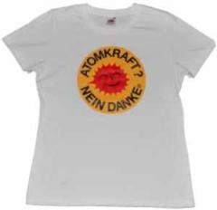 """Zum tailliertes T-Shirt """"Atomkraft? Nein Danke"""" für 14,00 € gehen."""