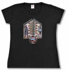 """Zum/zur  tailliertes T-Shirt """"Bei Nazis foid da Watschnbaam!!!"""" für 25,34 € gehen."""