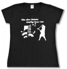 """Zum tailliertes T-Shirt """"Bis der letzte Käfig leer ist"""" für 14,00 € gehen."""
