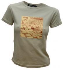 """Zum tailliertes T-Shirt """"cobblestone - zweifarbig"""" für 19,45 € gehen."""