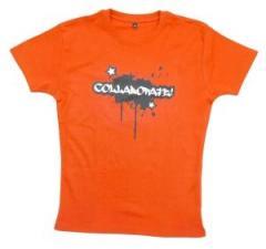 """Zum tailliertes T-Shirt """"Collaborate"""" für 19,50 € gehen."""