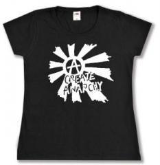 """Zum Girlie-Shirt """"Create Anarchy"""" für 14,00 € gehen."""