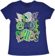 """Zum tailliertes T-Shirt """"Elements purple"""" für 17,55 € gehen."""