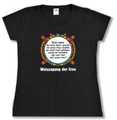 """Zum Girlie-Shirt """"Erst wenn der letzte Baum gerodet...."""" für 17,00 € gehen."""