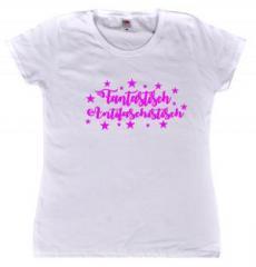 """Zum tailliertes T-Shirt """"Fantastisch Antifaschistisch"""" für 14,00 € gehen."""