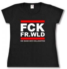 """Zum tailliertes T-Shirt """"FCK FR.WLD"""" für 13,65 € gehen."""
