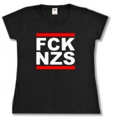 """Zum tailliertes T-Shirt """"FCK NZS"""" für 14,00 € gehen."""