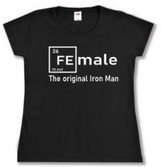 """Zum tailliertes T-Shirt """"Female - weiß"""" für 14,00 € gehen."""