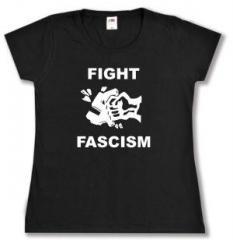 """Zum tailliertes T-Shirt """"Fight Fascism"""" für 13,65 € gehen."""