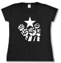 """Zum tailliertes T-Shirt """"Fist and Star"""" für 14,00 € gehen."""