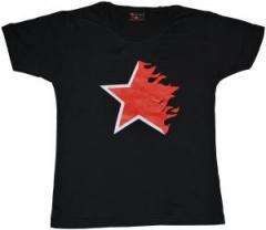 """Zum tailliertes T-Shirt """"Flaming Star black"""" für 14,62 € gehen."""