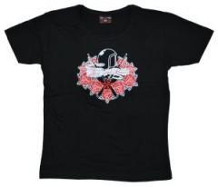 """Zum tailliertes T-Shirt """"Flower Power"""" für 13,65 € gehen."""