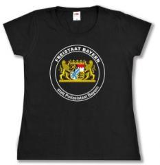 """Zum tailliertes T-Shirt """"Freistaat statt Polizeistaat"""" für 14,00 € gehen."""