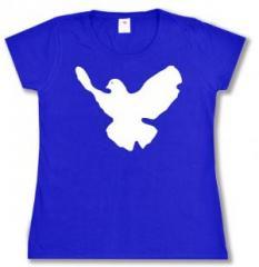 """Zum tailliertes T-Shirt """"Friedenstaube"""" für 13,65 € gehen."""