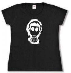 """Zum tailliertes T-Shirt """"Gasmaske"""" für 14,00 € gehen."""