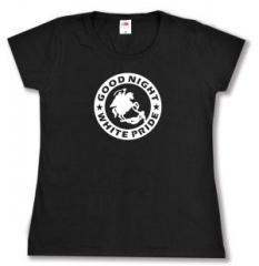"""Zum tailliertes T-Shirt """"Good night white pride - Reiter"""" für 14,00 € gehen."""