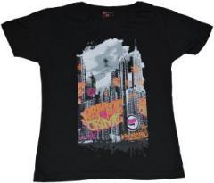 """Zum tailliertes T-Shirt """"Graffiti Crime black"""" für 19,50 € gehen."""