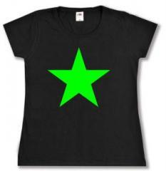 """Zum tailliertes T-Shirt """"Grüner Stern"""" für 14,00 € gehen."""