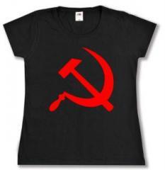 """Zum tailliertes T-Shirt """"Hammer und Sichel"""" für 14,00 € gehen."""