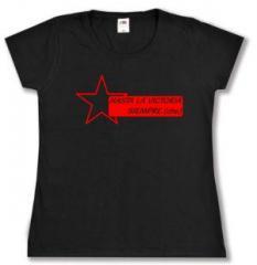 """Zum tailliertes T-Shirt """"Hasta la victoria siempre (che)"""" für 13,65 € gehen."""