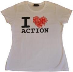 """Zum tailliertes T-Shirt """"heart - white"""" für 22,32 € gehen."""