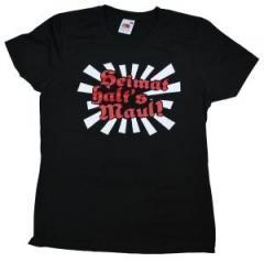 """Zum Girlie-Shirt """"Heimat halt's Maul"""" für 13,00 € gehen."""