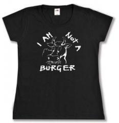 """Zum tailliertes T-Shirt """"I am not a burger"""" für 14,00 € gehen."""