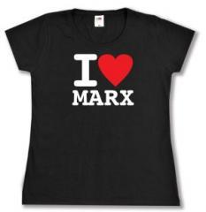 """Zum tailliertes T-Shirt """"I love Marx"""" für 14,00 € gehen."""