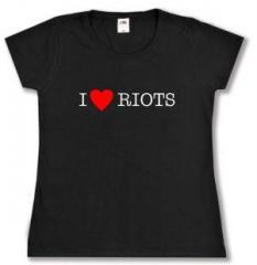 """Zum Girlie-Shirt """"I love Riots"""" für 14,00 € gehen."""
