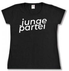 """Zum tailliertes T-Shirt """"Junge Partei"""" für 16,00 € gehen."""