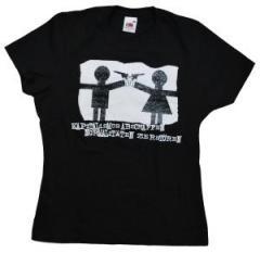 """Zum Girlie-Shirt """"Kapitalismus abschaffen. Normalitäten zerstören."""" für 12,00 € gehen."""