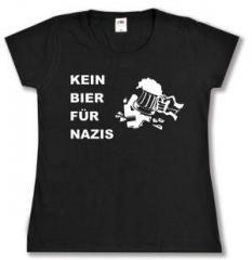 """Zum tailliertes T-Shirt """"Kein Bier für Nazis"""" für 14,00 € gehen."""