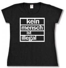 """Zum tailliertes T-Shirt """"kein mensch ist illegal"""" für 13,65 € gehen."""