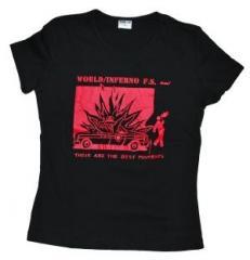"""Zum tailliertes T-Shirt """"Kids hate cops"""" von World Inferno/Friendship Society für 12,00 € gehen."""
