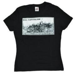 "Zum Girlie-Shirt ""kill capitalism before it kills the planet"" für 12,00 € gehen."