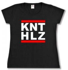 """Zum tailliertes T-Shirt """"KNTHLZ"""" für 13,65 € gehen."""
