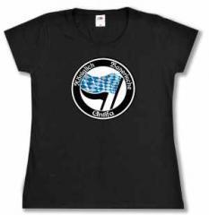 """Zum tailliertes T-Shirt """"Königlich Bayerische Antifa"""" für 16,57 € gehen."""