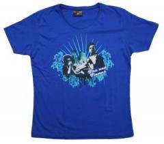 """Zum tailliertes T-Shirt """"Liberation Blue"""" für 14,13 € gehen."""