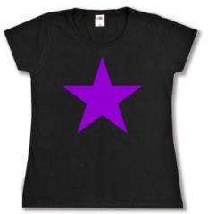 """Zum tailliertes T-Shirt """"Lila Stern"""" für 14,00 € gehen."""