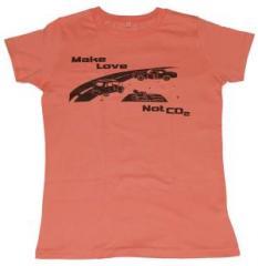 """Zum tailliertes T-Shirt """"Make Love Not C02"""" für 19,50 € gehen."""