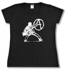 """Zum tailliertes T-Shirt """"male A an die Wand"""" für 13,65 € gehen."""